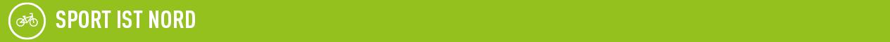 Grafik zeigt weißen Schriftzug Sport ist Nord auf grünem Hintergrund; Quelle: Dialog public relations
