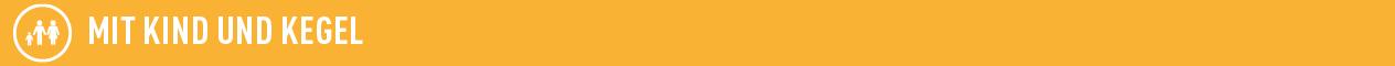 Grafik zeigt weißen Schriftzug Kind und Kegel auf orange farbenem Hintergrund; Quelle: Dialog public relations