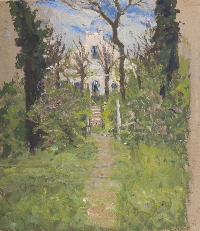 Gemälde: Haus Sechslinden im Grünen