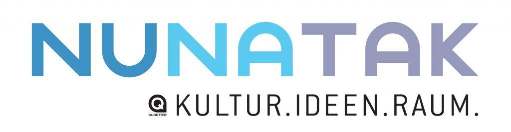 Schriftzug in Versalien: Nunatak. Kultur. Ideen. Raum.