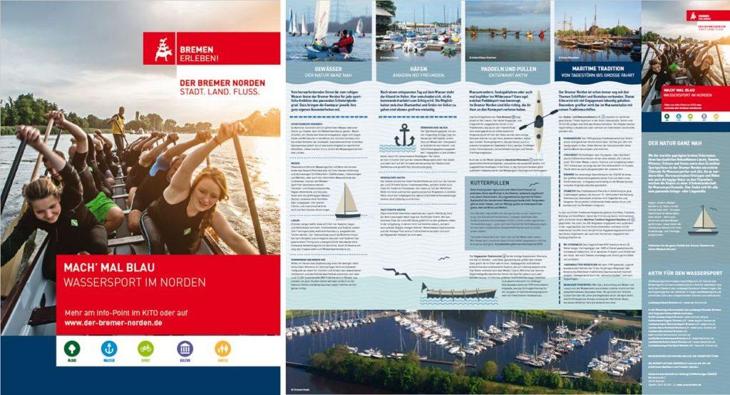 Broschüre zum Wassersport im Bremer Norden