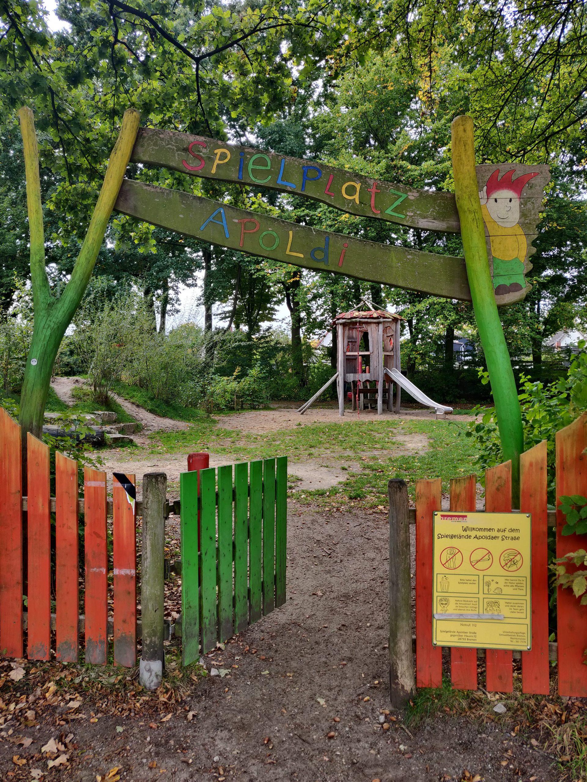 Eingang Apoldi Spielplatz